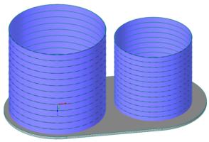 2 Behälter auf einer gemeinsamen Bodenplatte