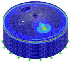 Berechnung eines Kegelbodens