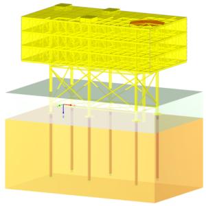 Offshore Plattform - Transparent